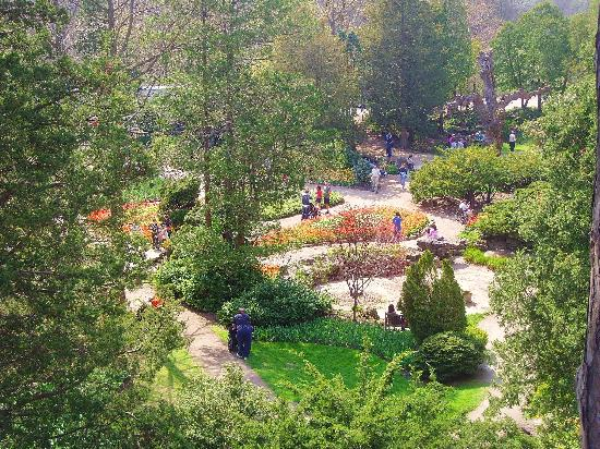 Burlington, Kanada: springtime over rock gardens