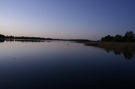Leleszki, Poland: The lake in the evening.