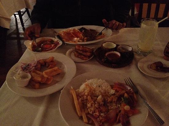 Machu Picchu: The entire meal.
