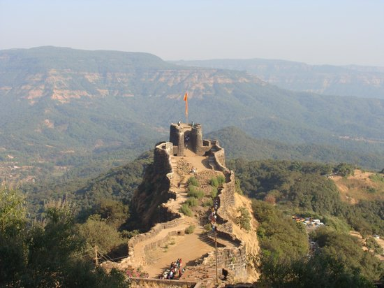 Satara, India: Fort watch tower