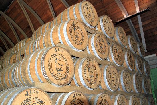 Habitation Clement: Casks of aging spirits