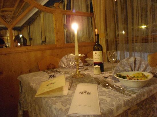 Hotel Negritella: Cena a lume di candela