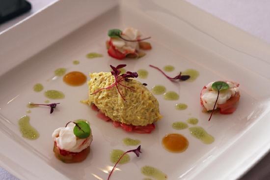 Alfresco Cafe Bar : crab & lobster starter