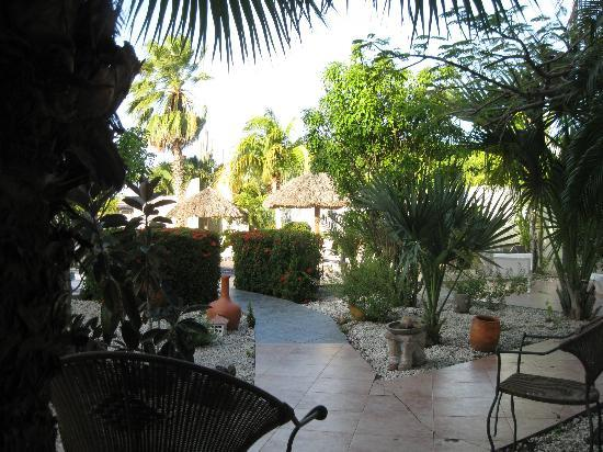Club Arias B&B: The courtyard at Club Arias, a super relaxing place to sit at the pool
