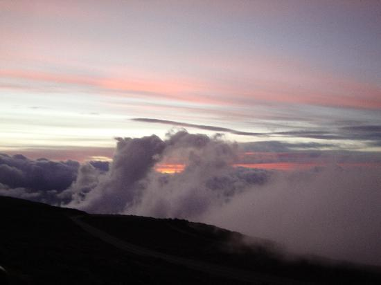 Haleakala Crater: The clouds dance at the top of Haleakala