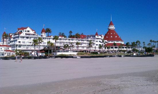 Hotel del Coronado: view from the beach