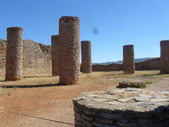 La Quemada: Sala columnas