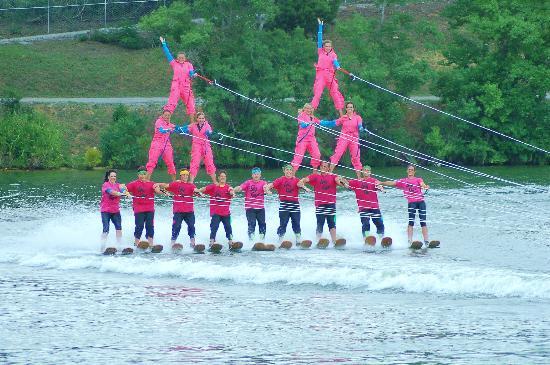 Sarasota Ski-A-Rees Water Ski Show: pyramid