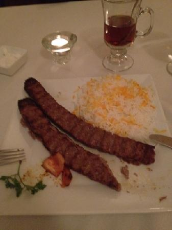Marjan Fine Persian Grill: lamb and beef kabob