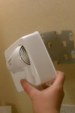 Hilton Garden Inn Columbia: hair dryer came off the wall in the bathroom
