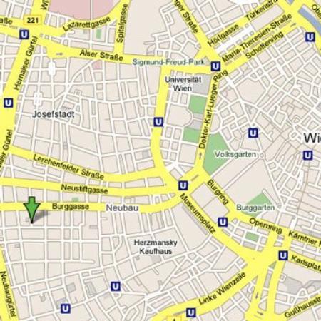 Alla Lenz Hotel: Map