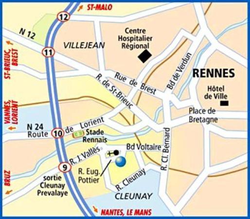 Arcantis Hotel Le Voltaire : Map