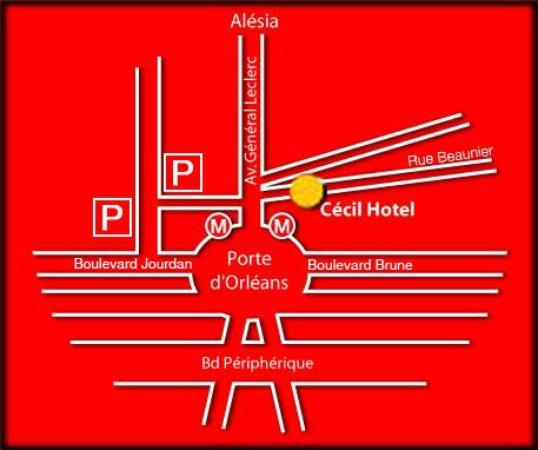 Le Glam's Hotel: Map