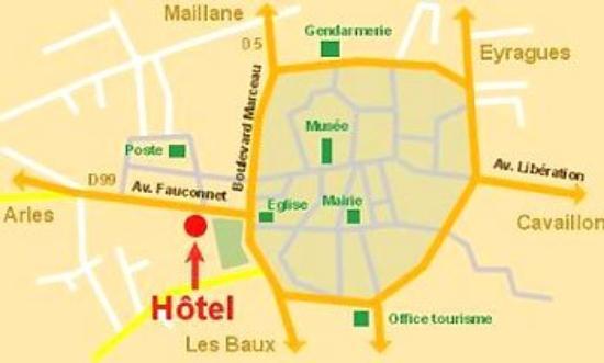 Hotel Gounod: Access map