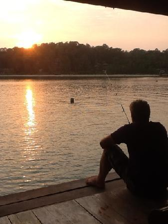 La Madrague: moment de détente au couché de soleil