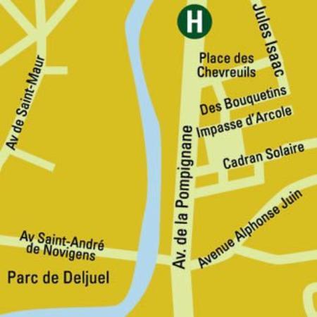 Hotel La Maison Blanche: Area