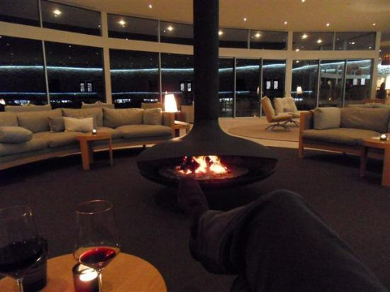 Southern Ocean Lodge: Great Room Fireplace