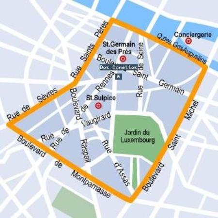 Hotel Des Canettes: Map
