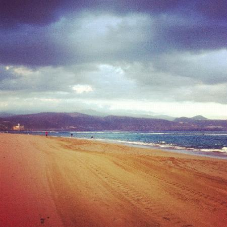 Playa de Las Canteras: Run to the big white building, keep going - then to the pier! Beautiful views.