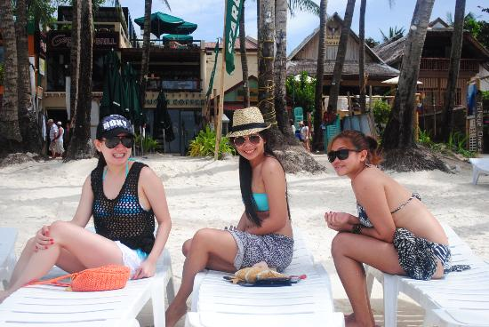 Mito's Place Boracay : beach chairs from mito's