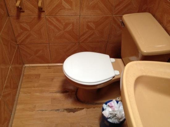 Hostal Corvatsch: baño sucio y sin papel higiénico