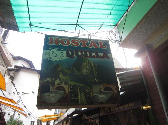 Hostal Inti Quilla: ホステルの看板