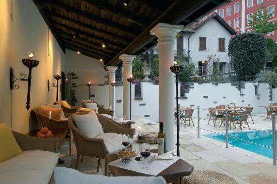 Brissago, Schweiz: Outdoor Lounge Privilege Hotel Villa Caesar