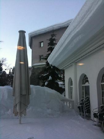 Spengler Hostel : View from the breakfast area.