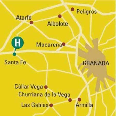 Hotel Capitulaciones: Map