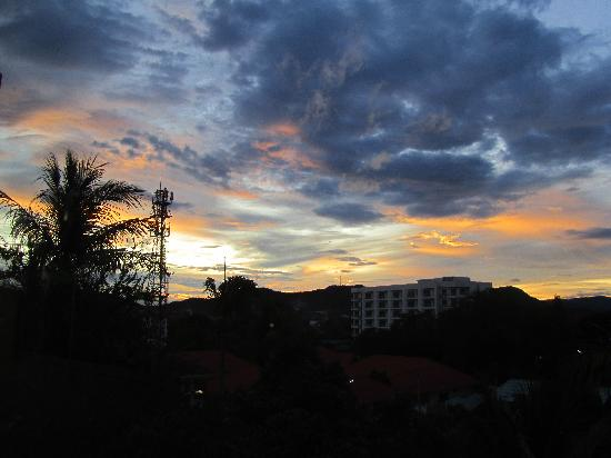 Prinz Garden Villa: Sunset from the top of the building