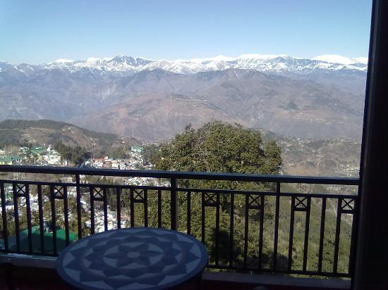 Grand View Hotel: The Pirpanjal Range from the suite
