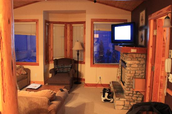 Grizzly Lodge: Small but comfortable living room