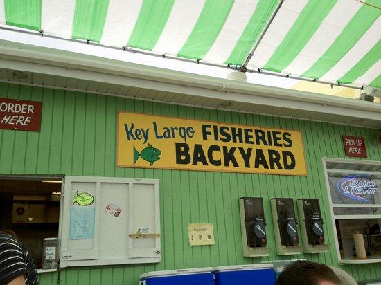 Key Largo Fisheries Backyard: Ordering & Pickup area
