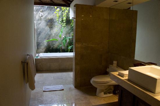 The Ahimsa: Bathroom of twin bed