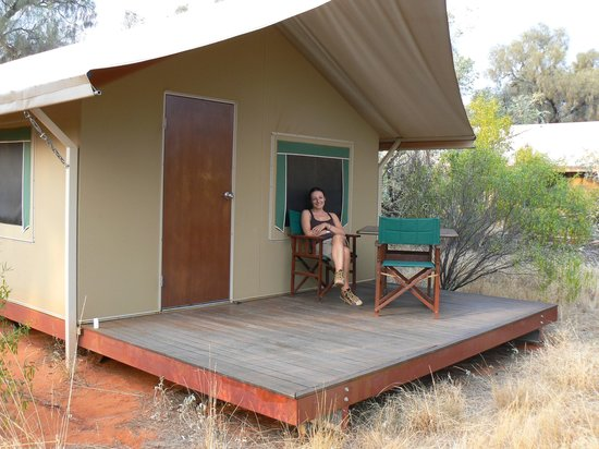 Kings Canyon Wilderness Lodge : relax in veranda