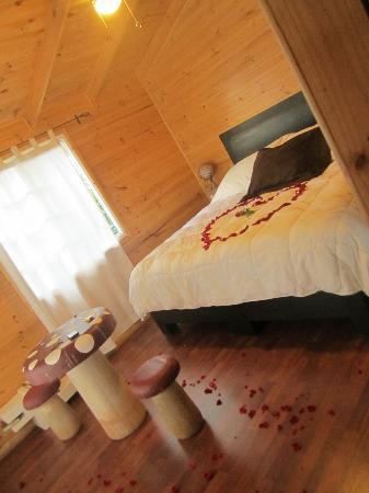 Hotel Boutique Xacallan: La habitación preparada muy romántica para mi pareja y para mi