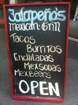 Jalapenos Mexican Grill: jalapeños is open