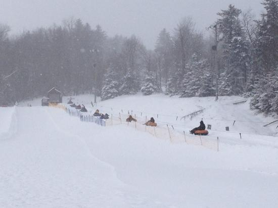 Snowshoe Mountain Tubing Park: lift to the top