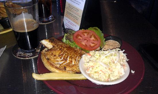 Shipyard Brew Pub Eliot Commons: Blackened Haddock Sandwich