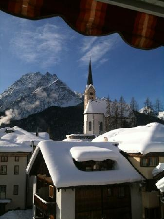 Hotel Conrad Scuol: view from the balcony