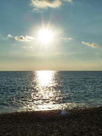 Kouklia, Cypr: Das Meer vom Felsen aus gesehen