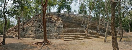 Kinichna: Kinichná's acropolis, at the base
