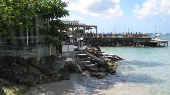 View of terrace at La Dunette Hotel & Restaurant