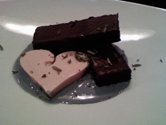 Beach Cafe: Midnight chocolate cake with lavendar cream
