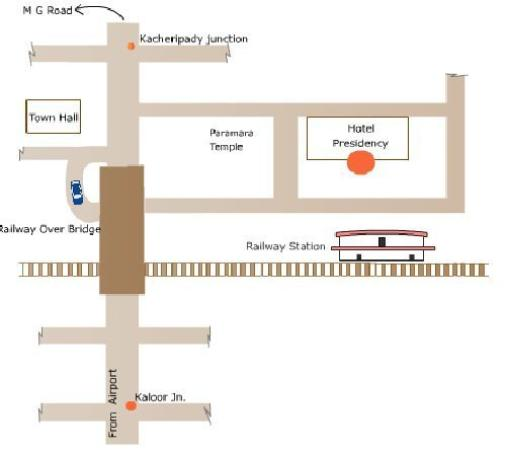 Hotel Presidency: Map