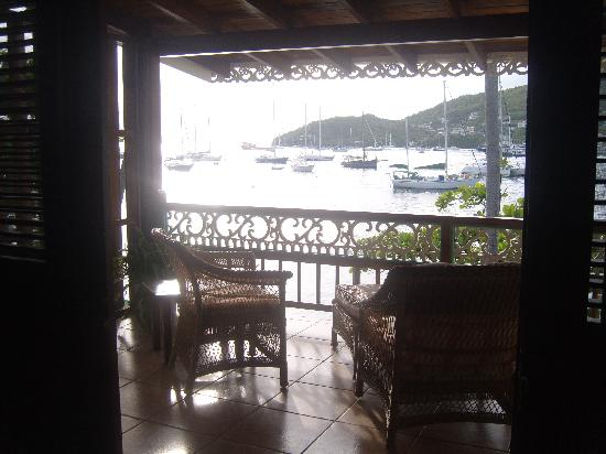 Gingerbread Hotel: View from Upper Bequia Suite on Port Elizabeth