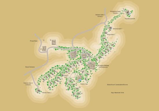 Al Maha, A Luxury Collection Desert Resort & Spa: Map