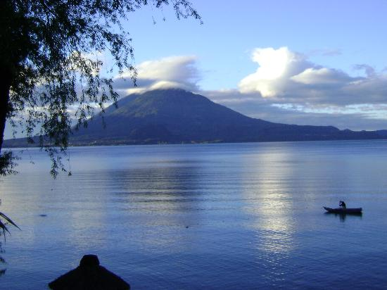 Hotel San Buenaventura de Atitlan: View from the dock