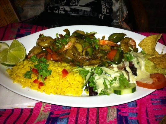 Manana: Fajitas de Camarones