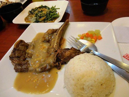 Slice N' Dice: garlic t-bone steak and kangkong